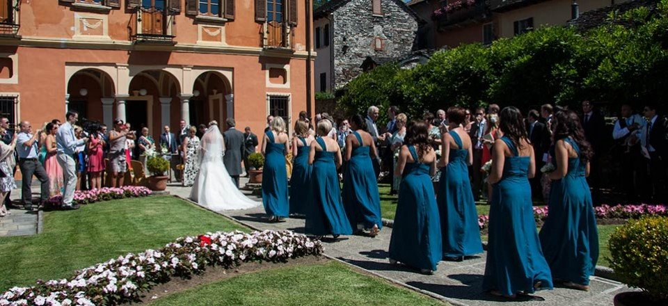 Civil ceremony at Villa Bossi