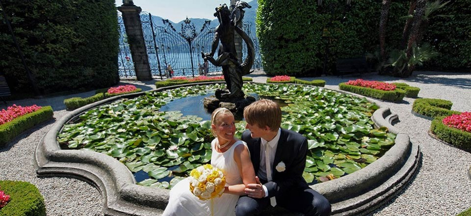 From Norway to Lake Como: a dream wedding in Villa Carlotta