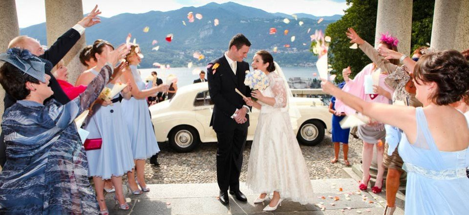 A light blue themed wedding on Lake Orta – Eve Marie and Roland