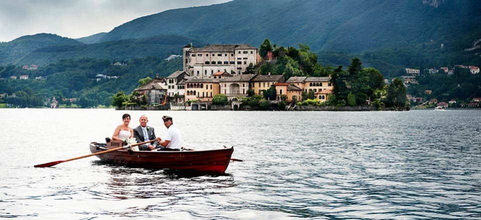 A very elegant wedding on St Julius Island – Lake Orta