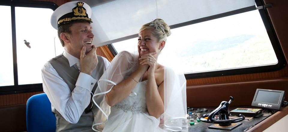 Wedding boat services on Lake Orta