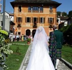 Outdoor Civil Ceremony at Villa Bossi - lake Orta