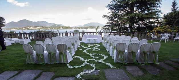 A Legal Civil ceremony at Villa Claudia Dal Pozzo on Lake Maggiore
