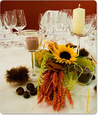 Table Decorations on Centerpiece Idea For An Autumn Country Wedding   Italian Lakes