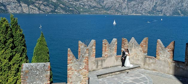 Wedding in Malcesine: like a King and Queen