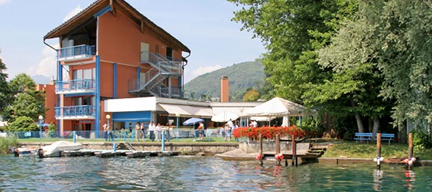 Hotel Approdo, a unique restaurant on the shores of Lake Orta