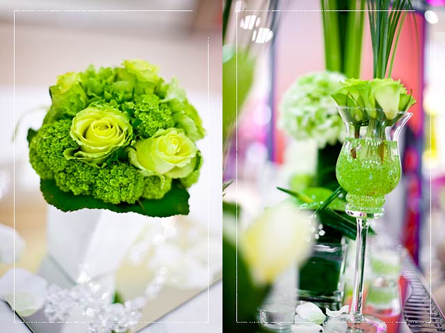 Acid green wedding theme