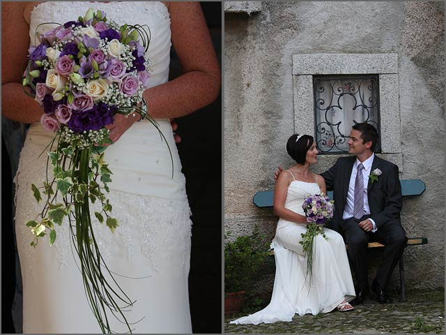 PurpleLilacWeddinginItaly Right after their boat trip bride and groom