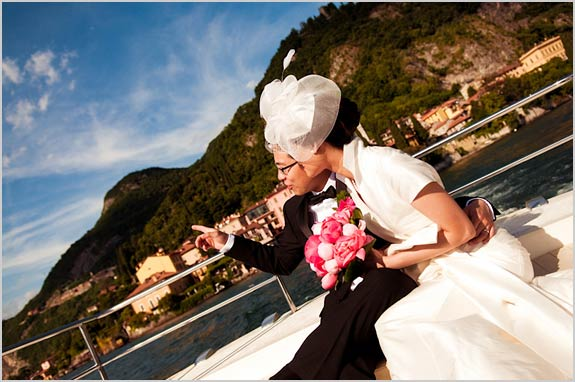 wedding boat trip on lake como