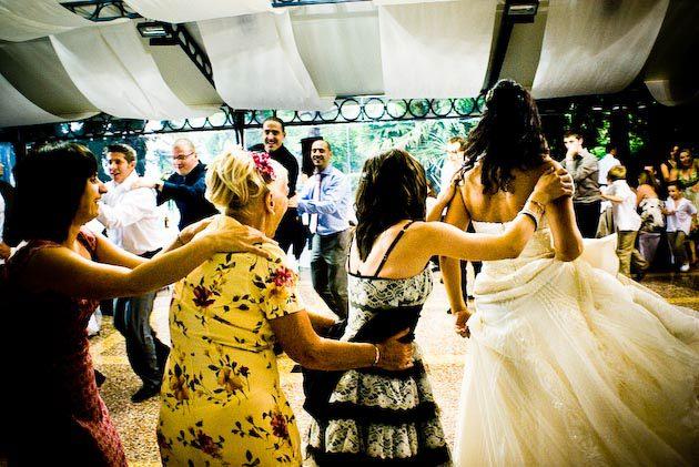 wedding party in Villa Rusconi Italy
