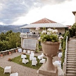 Wedding with a breathtaking lakeview at Villa Decio