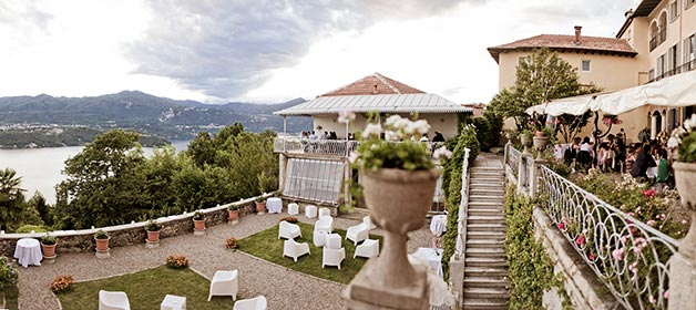 Wedding with a breathtaking lakeview at Villa Decio