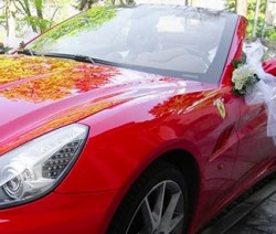 Ferrari Red Wedding on Lake Orta