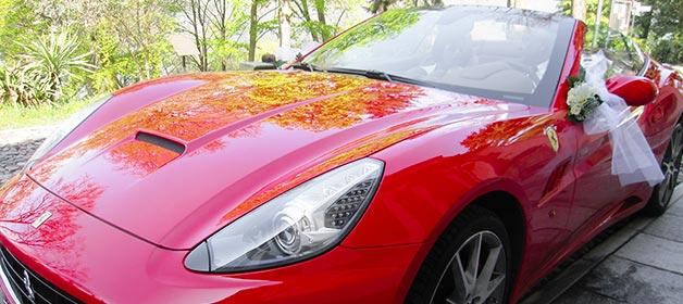 Ferrari Red Wedding on Lake Orta