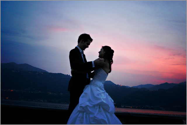 sunset-on-lake-Orta-with-bridesgroom