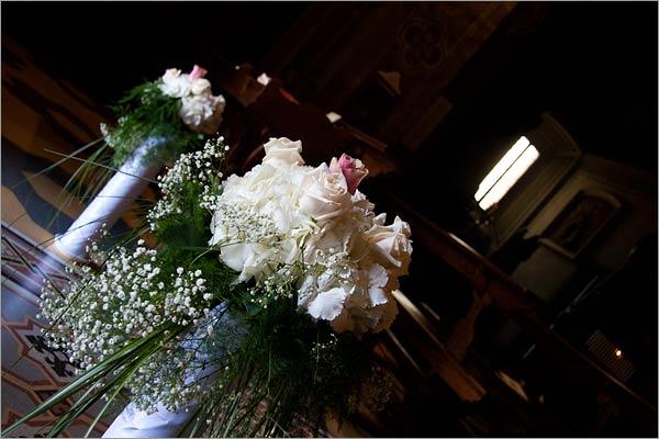 Hydrangea flowers church decoration