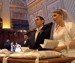 Cynthia and Francesco just got married in Saint Peter's basilica in Rome