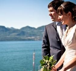 Intimate wedding on lake Garda