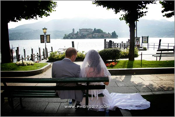 wedding on St Julius-island-lake-Orta-Italy