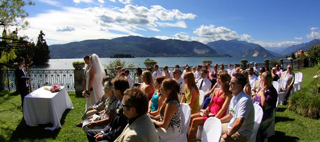A sunny wedding on Lake Maggiore