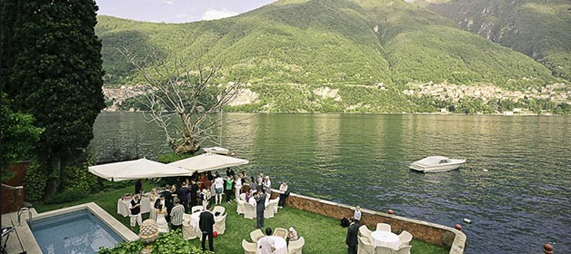 A very scenic wedding at lake Como
