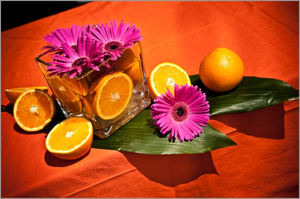 orange-fuchsia-wedding-centerpieces