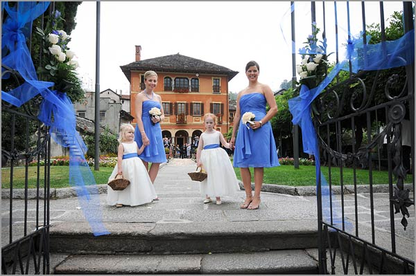 Blue and white themed wedding on lake orta italy blue and white wedding decorations italy junglespirit Gallery