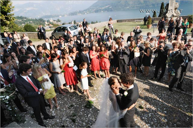 wedding in San Abbondio church Mezzegra lake Como