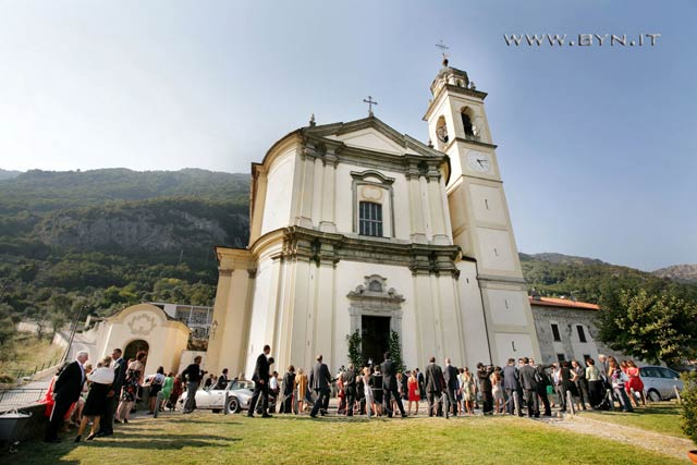 religious ceremony to Mezzegra church Lake Como