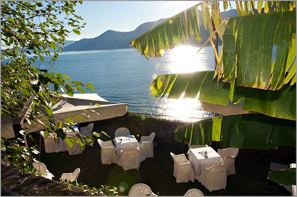 wedding reception venue lake Maggiore