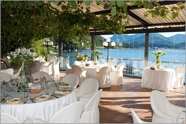wedding restaurant with terrace on Lake Maggiore