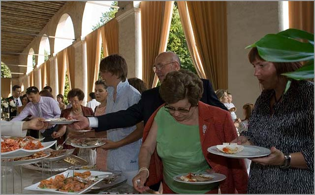 traditional Veneto wedding aperitif