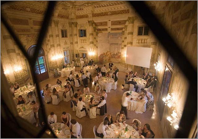 wedding dinner Venetian Villa along Brenta River