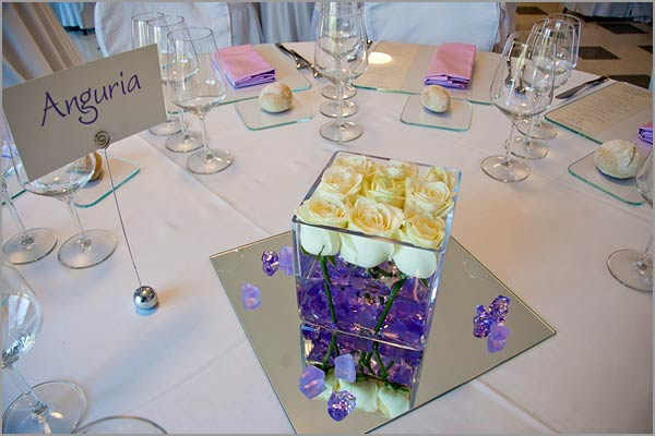 wedding centerpieces villa Ortea lake Orta