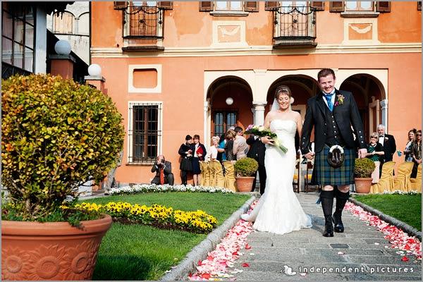scottish wedding on Lake Orta Italy