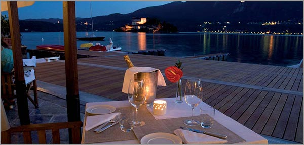 lake view terrace San Rocco Hotel Orta