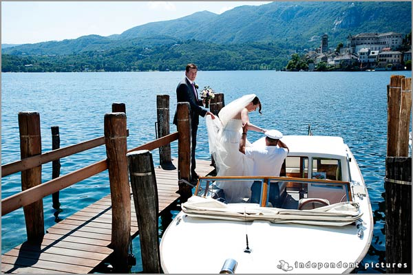 wedding boat tour lake Orta