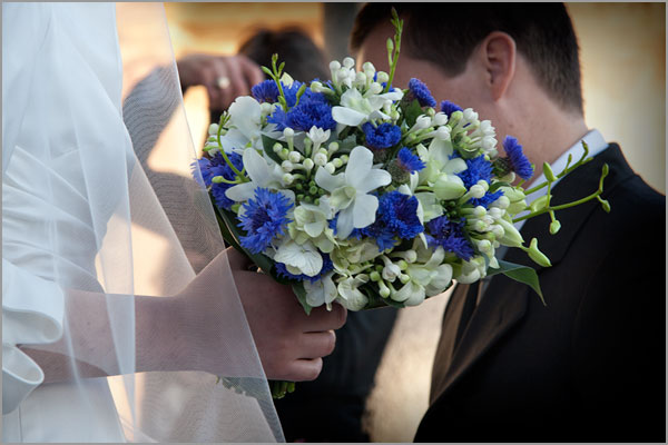 blue Cornflowers bridal bouquet