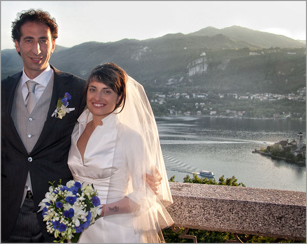 wedding in Sacro Monte church Orta