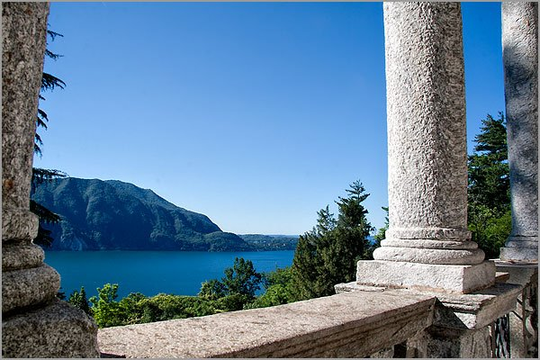 Lakeview panaroma from church Sacro Monte Ghiffa
