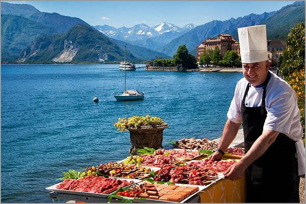 wedding catering Villa Rusconi Lake Maggiore