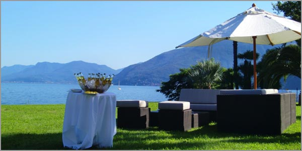 open air wedding in Brissago Ticino Switzerland
