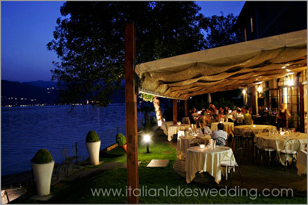 pretty restaurant on the shores of Lake Orta