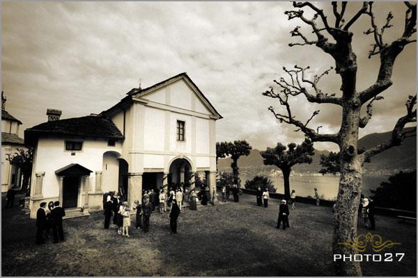 wedding in the church of Sacro Monte di Ghiffa