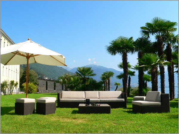 wedding venue in Ticino with gardens overlooking lake Maggiore