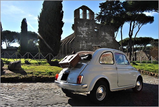 vintage car rental in Rome