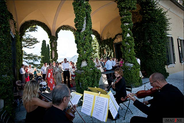 String Quartet for weddings to Villa del Balbianello