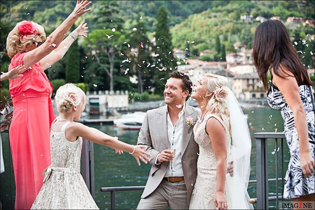 wedding reception to Villa Balbianello Lake Como