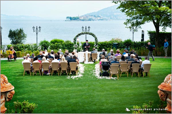 wedding ceremony by the shores of Lake Maggiore to Hotel Dino