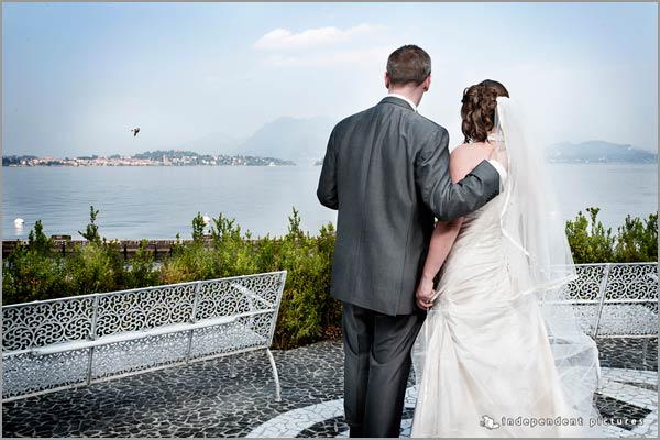 Lake view wedding to Hotel Dino Baveno Lake Maggiore